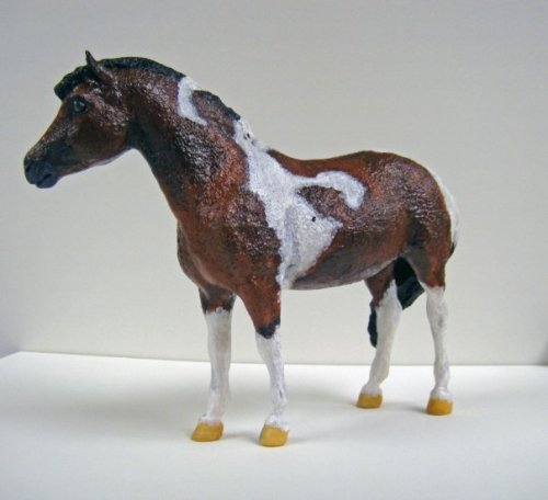 Breyer model painted to look like Chincoteague Minnow by artist Kyley DiLuigi