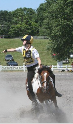 Minnow putting on the brakes during competition 2007